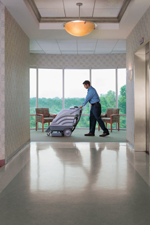 ServiceMaster at Fresno commercial carpet cleaning technician
