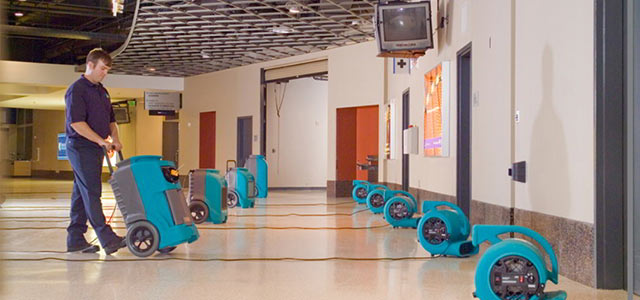 Commercial water damage restoration experts. We handle large and small jobs for you.